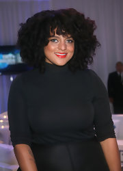 Marsha Ambrosius went for a conservative look with this black turtleneck during the 2012 BET Awards.