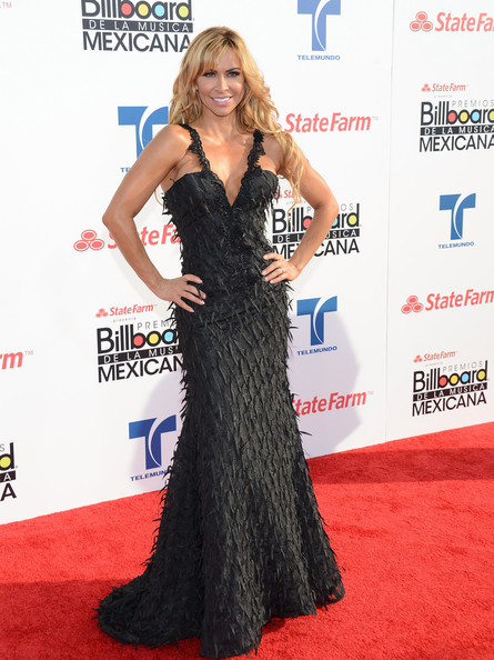More Pics of Aylin Mujica Evening Dress (1 of 3) - Aylin Mujica Lookbook - StyleBistro [red carpet,clothing,dress,carpet,shoulder,gown,hairstyle,flooring,premiere,long hair,arrivals,aylin mujica,billboard mexican music awards,california,los angeles,the shrine auditorium,state farm]