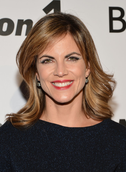 More Pics of Natalie Morales Medium Curls with Bangs (3 of 8) - Shoulder Length Hairstyles Lookbook - StyleBistro