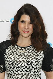 Marisa Tomei wore her lovely layered tresses loose for the 2012 Brooklyn Artists' Ball after party.