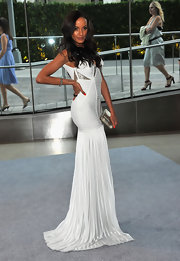 Selita Ebanks was dripping with glamour in this white bandage gown at the CFDA Awards.