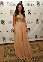 Jennifer Hudson looked like a princess at the Concert for the Rainforest.