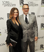 Rita Wilson carried this patent alligator clutch to the Concert for the Rainforest.