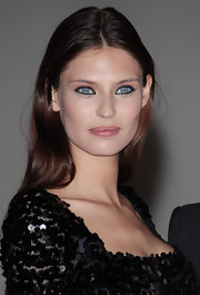 Bianca Balti went natural, wearing her hair in a long center part at the 2012 Convivio Charity Gala.