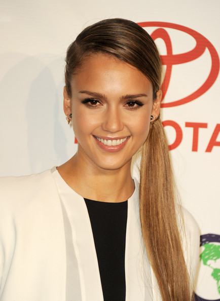 More Pics of Jessica Alba Braided Updo (1 of 67) - Updos Lookbook - StyleBistro