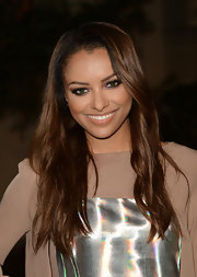Kat Graham wore her hair in barely-there waves for the Environmental Media Awards.