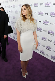Elizabeth Olsen looked regal in this eggshell dress at the Independent Spirit Awards.