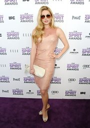 Kathryn Winnick wore this pale lace dress to the Independent Spirit Awards.