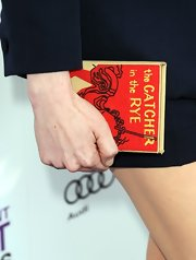 Michelle Williams carried a cool book-shaped clutch to the 2013 Independent Spirit Awards.