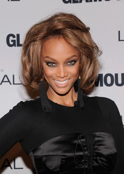 More Pics of Tyra Banks Short Wavy Cut (1 of 5) - Tyra Banks Lookbook - StyleBistro