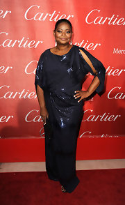 Octavia Spencer was ultra-elegant draped in a beaded evening dress for the Palm Springs International Film Festival Awards.