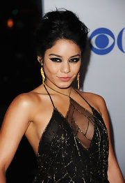 Vanessa Hudgens used lots of glossy black liner to create her smoky-eyed look at the 2012 People's Choice Awards.