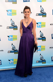 Alex's purple dress at the Do Something Awards had a beautiful backless design.