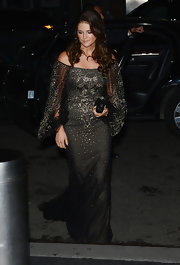Princess Madeleine wore a gemstone-encrusted black evening dress as she attended the Royal Gala Awards Dinner.