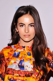 Camilla Belle left her hair long and flowing in soft waves over her shoulders at the 2012 Tribeca Film Festival.