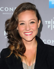 Lauren C. Mayhew attended the 2012 Tribeca Film Festival wearing her long, layered hair in voluminous side-swept curls.