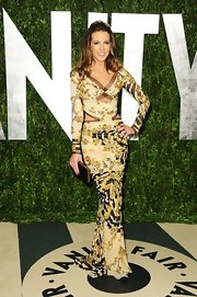 Kate Beckinsale was a sultry siren at Vanity Fair's 2012 Oscar party in a cut-out Atelier Versace gown.