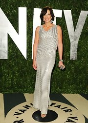 Allison Janney shined in this beaded gown at the Vanity Fair Oscar party.