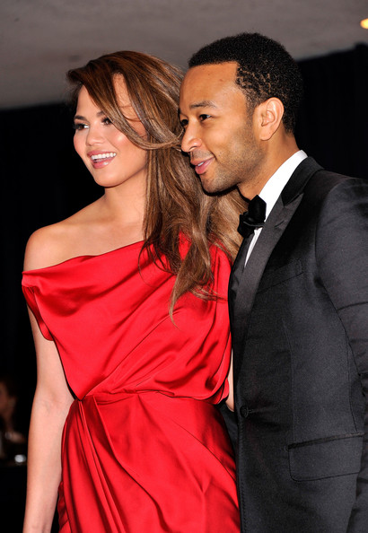 More Pics of Chrissy Teigen Evening Dress (1 of 4) - Chrissy Teigen Lookbook - StyleBistro