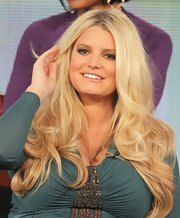 Jessica Simpson attended the 2012 Winter TCA Tour wearing her long hair in loose tousled curls.