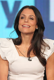 Bethenny Frankel wore her hair in soft layers with casual styling during the 2012 Winter TCA Tour.