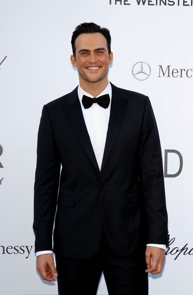 Cheyenne Jackson looked simply elegant in a classic black tux.
