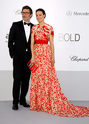 Berenice Bejo attended the 2012 amfAR Cinema Against AIDS event wearing a stunning red and white gown.