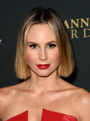 Keltie Knight wore her hair short, straight, and simple when she attended the BAFTA LA Britannia Awards.