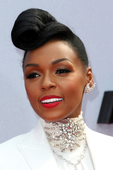 More Pics of Janelle Monae Pompadour (1 of 14) - Pompadour Lookbook - StyleBistro