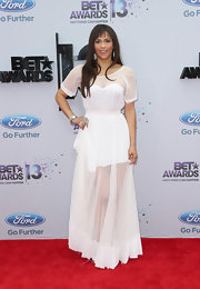 Paula Patton looked ethereal on the red carpet when she wore this flowing, sheer white dress.