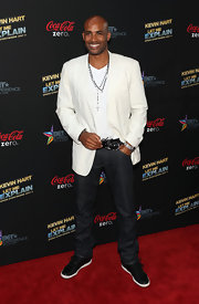 Boris Kodjoe looked sleek and dapper in this white blazer.