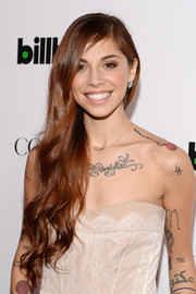 Christina Perri looked sweet with her super-long wavy 'do at the Billboard Women in Music event.