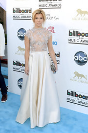 Kimberly Perry chose this gorgeous gown with a sheer pearl top and ivory skirt for her effortlessly chic look at the 2013 Billboard Music Awards.