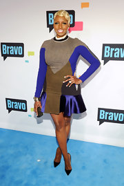 NeNe Leakes showed she's not afraid to take red carpet risks when she sported this tweed and satin ensemble.