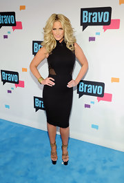Kim Zolciak chose a sexy version of the LBD when she sported this number, which featured netted cutouts on the sides.