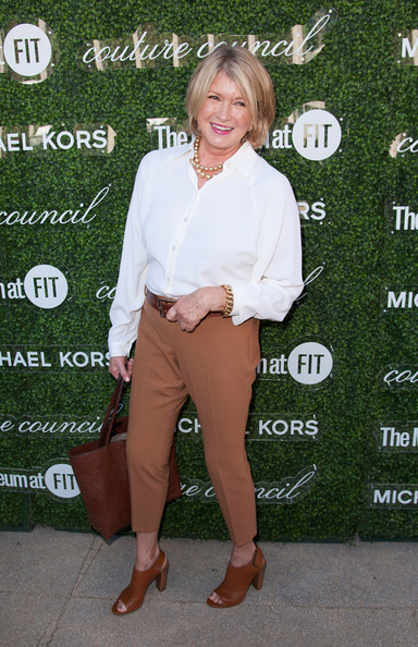 Martha Stewart kept it simple yet classic in a white button-down at the Couture Council Fashion Visionary Awards.