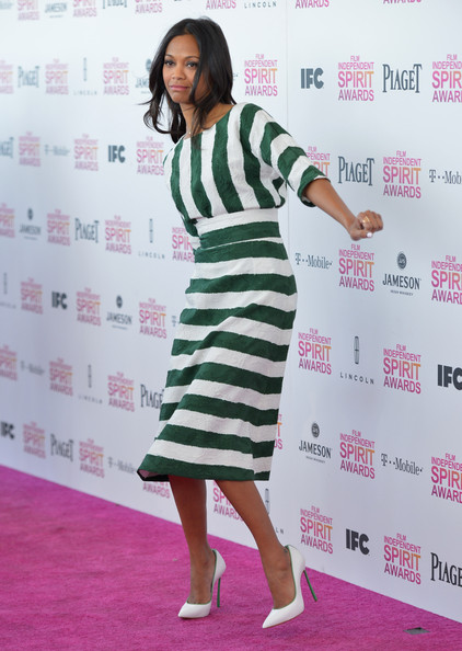 More Pics of Zoe Saldana Pumps (1 of 44) - Pumps Lookbook - StyleBistro