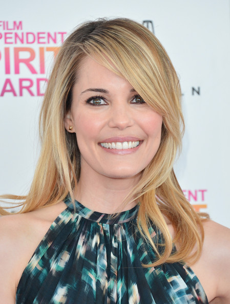 More Pics of Leslie Bibb Long Straight Cut with Bangs (1 of 15) - Long Straight Cut with Bangs Lookbook - StyleBistro