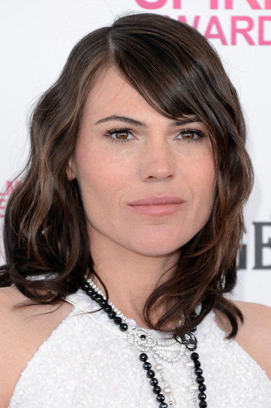 More Pics of Clea DuVall Medium Wavy Cut with Bangs (1 of 8) - Medium Wavy Cut with Bangs Lookbook - StyleBistro