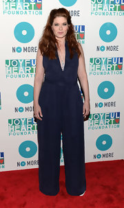 Debra Messing channeled the '70s with this wide-legged jumpsuit.