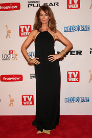 Kat Stewart kept it cool and simple on the red carpet when she chose this lovely black gown.