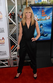 Toni Collette joined in on the jumpsuit trend with this double-breasted black number at the Los Angeles Film Festival premiere of 'The Way, Way Back.'