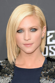 Brittany Snow's platinum locks looked sleek and sophisticated when styled into a short and straight bob.