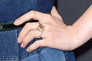 Chloe Grace Moretz rocked a diamond-shaped double-knuckle ring.