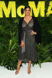 Rachel Roy looked lovely in prints when she wore this polka dot and stripe frock.