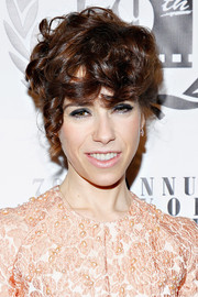 "Sally Hawkins was ""disheveled-chic"" with her pinned-up ringlets during the NY Film Critics Circle Awards."