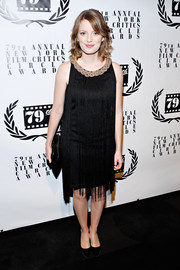 Sarah Polley went for a Gatsby-inspired look with this fringed LBD during the NY Film Critics Circle Awards.