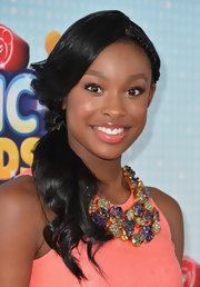 Coco Jones rocked a braided ponytail at the Radio Disney Music Awards.