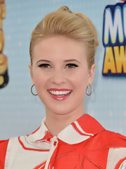 Caroline Sunshine looked totally chic with this pinned updo.