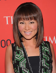 Alina Cho chose a sleek and sharp straight cut with bangs for her look at the Time 100 Gala.